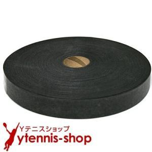 【他の商品と同梱不可で1点のみ購入可能】ノーブランド オーバーグリップテープ ブラック セミウェット 1巻46m 約41回分以上|ytennis-shop