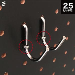 ★有孔ボード用 Jフック ステンロックピン付 P25 【5個セット】の写真