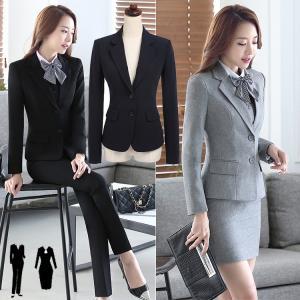 スーツ レディース パンツ 長袖 2点セット 通勤 ビジネス...