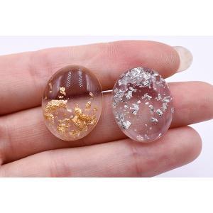 高品質デコパーツ 樹脂パーツ オーバル 19×23mm クリア【10ヶ】 yu-beads-parts 05