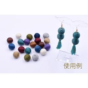 ロー引き紐ボールビーズ 16mm 全11色【10ヶ】 yu-beads-parts 05