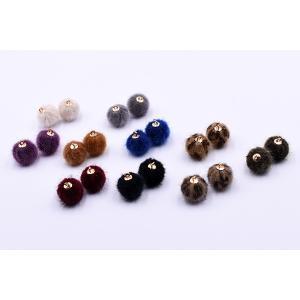 ファーボールチャーム 15×17mm 金属チャーム【10ヶ】|yu-beads-parts|03