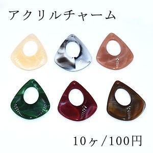 アクリルチャーム 抜き雫 1穴 34×41mm【10ヶ】|yu-beads-parts