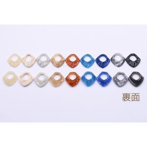 高品質樹脂パーツ 抜き変形ひし形 穴なし 27×28mm【10ヶ】|yu-beads-parts|03