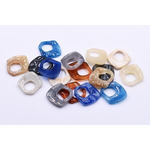 高品質樹脂パーツ 抜き変形ひし形 穴なし 27×28mm【10ヶ】|yu-beads-parts|05