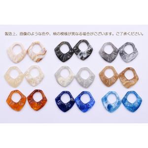 高品質樹脂パーツ 抜き変形ひし形 穴なし 27×28mm【10ヶ】|yu-beads-parts|06