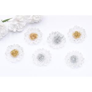 高品質デコパーツ 樹脂パーツ 菊 21×22mm クリア【10ヶ】|yu-beads-parts|05