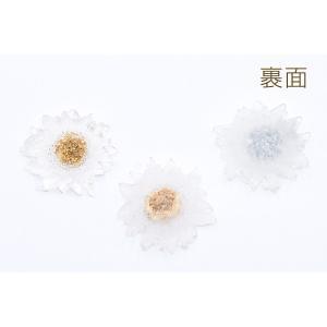 高品質デコパーツ 樹脂パーツ 菊 35×36mm クリア【10ヶ】|yu-beads-parts|03