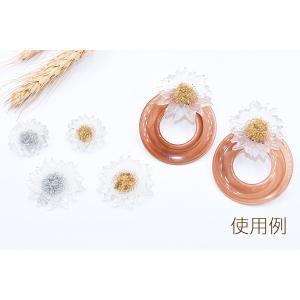 高品質デコパーツ 樹脂パーツ 菊 35×36mm クリア【10ヶ】|yu-beads-parts|07