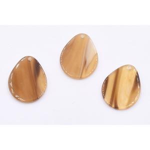 アクリルパーツ プレート 雫1穴 22×27mm ブラウン【10ヶ】|yu-beads-parts|03
