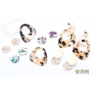 アクリルパーツ プレート ラウンド1穴 18mm べっこう風【10ヶ】|yu-beads-parts|05