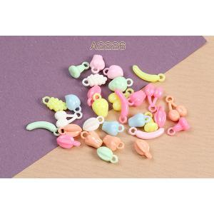 アクリルパーツ プレート 丸フレーム 穴なし 20mm べっこう風【10ヶ】|yu-beads-parts|02