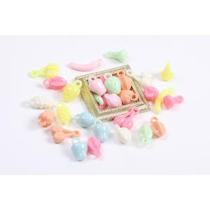 アクリルパーツ プレート 丸フレーム 穴なし 20mm べっこう風【10ヶ】|yu-beads-parts|03