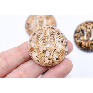 高品質デコパーツ 樹脂パーツ 半円 30mm 金箔入り【10ヶ】 yu-beads-parts 05