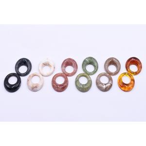 高品質樹脂パーツ 抜きオーバル 1穴 29×35mm【10ヶ】 yu-beads-parts 04