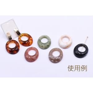 高品質樹脂パーツ 抜きオーバル 1穴 29×35mm【10ヶ】 yu-beads-parts 06