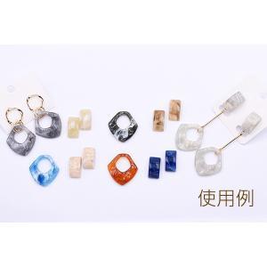 高品質デコパーツ 樹脂パーツ カーブ長方形 10×19mm【15ヶ】 yu-beads-parts 07