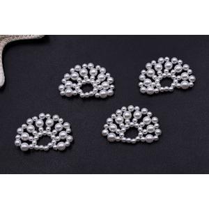 高品質パールパーツ 扇型 21×34mm ホワイト【2ヶ】|yu-beads-parts|02
