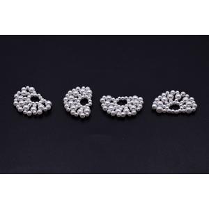 高品質パールパーツ 扇型 21×34mm ホワイト【2ヶ】|yu-beads-parts|03