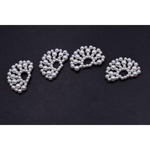 高品質パールパーツ 扇型 21×34mm ホワイト【2ヶ】|yu-beads-parts|04