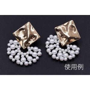 高品質パールパーツ 扇型 21×34mm ホワイト【2ヶ】|yu-beads-parts|05