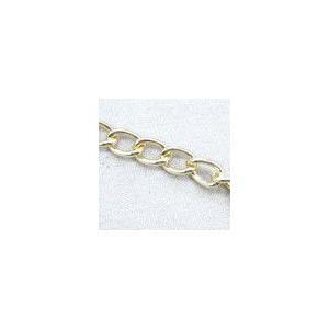 アルミニウムチェーン7 キヘイ ゴールド|yu-beads-parts