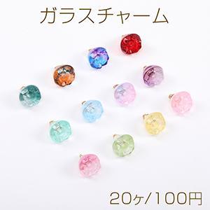 スクラブガラスビーズ ボタンカット カラーMIX 3×4mm【10g】|yu-beads-parts