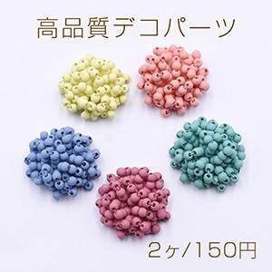 高品質デコパーツ スクラブガラスビーズ 半円 25mm【2ヶ】|yu-beads-parts