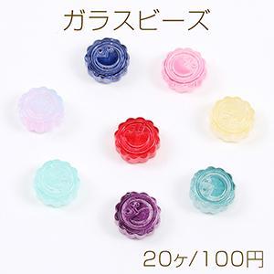 高品質デコパーツ パール付き 半円 33mm ホワイト【1ヶ】