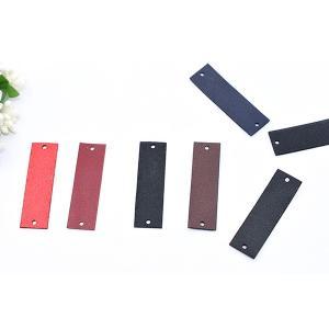 合皮タグパーツ 15×50mm 2穴 ハンドメイド【10ヶ】|yu-beads-parts|03