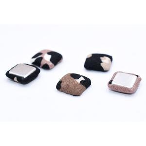 デコパーツ 包みボタン 布地 正方形 14×14mm レオパード柄【15ヶ】|yu-beads-parts|05