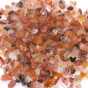 天然石さざれチップ 穴なしさざれチップ カーネリアン 5-7mm(50g)|yu-beads-parts