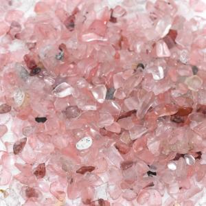 天然石さざれチップ 穴なしさざれチップ 合成チェリークォーツ 5-7mm(50g)|yu-beads-parts