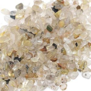 天然石さざれチップ 穴なしさざれチップ ゴールドルチル 5-7mm(50g)