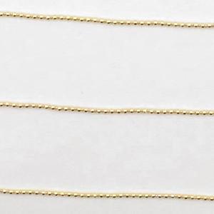 ボールチェーン 1mm ゴールド|yu-beads-parts