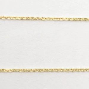 小判 丸チェーン 1mm ゴールド|yu-beads-parts