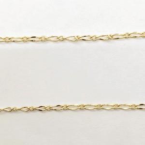 ツイスト 1:1 チェーン 1.5mm ゴールド|yu-beads-parts