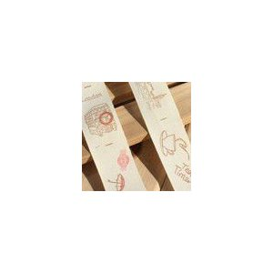 100%綿手作り商標  スケッチスタイル  ロンドンの印象  幅約2.5cm|yu-beads-parts