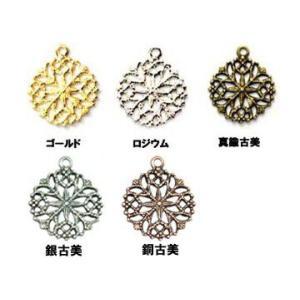 透かしパーツ カン付丸1 yu-beads-parts