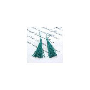 輪房 ダークグリーン 全長約12cm (5ヶ)|yu-beads-parts
