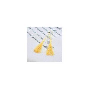輪房 イエロー 全長約12cm (5ヶ)|yu-beads-parts