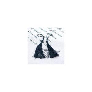 輪房 ブラック 全長約13cm (5ヶ)|yu-beads-parts