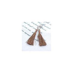 輪房 ブラウン 全長約13cm (5ヶ)|yu-beads-parts