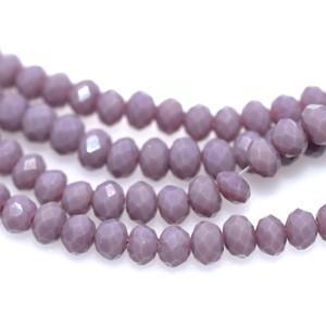 ボタンカットグラスビーズ 9パープル 3×4mm(1連/45cm)|yu-beads-parts