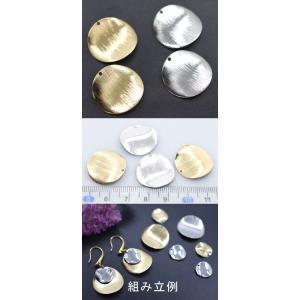 鉄製プレスパーツ ウェーブラウンド1穴 20mm(10ヶ) yu-beads-parts 02