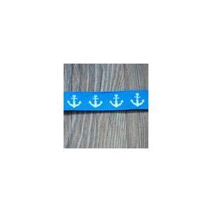 チロルテープ 錨 幅17mm ブルー/ホワイト(5ヤード) yu-beads-parts