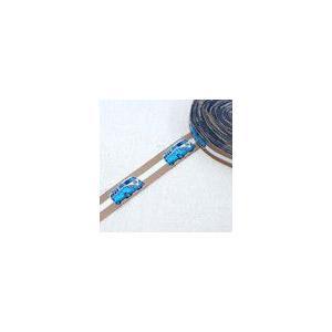 チロルテープ バス 幅17mm ブラウン/ブルー(5ヤード) yu-beads-parts