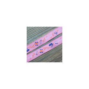 1裁縫モチーフのチロルテープ 幅16mm ピンク(10ヤード) yu-beads-parts
