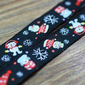 3クリスマスモチーフのチロルテープ 幅16mm ブラック(10ヤード) yu-beads-parts 02