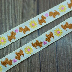 11動物のチロルテープ 幅16mm ベージュ/ブラウン(5ヤード)|yu-beads-parts